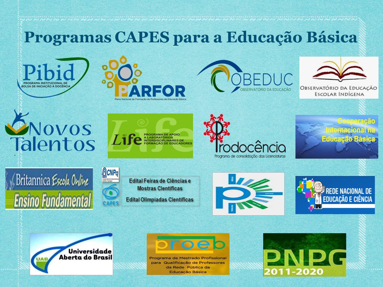 Programas CAPES para a Educação Básica