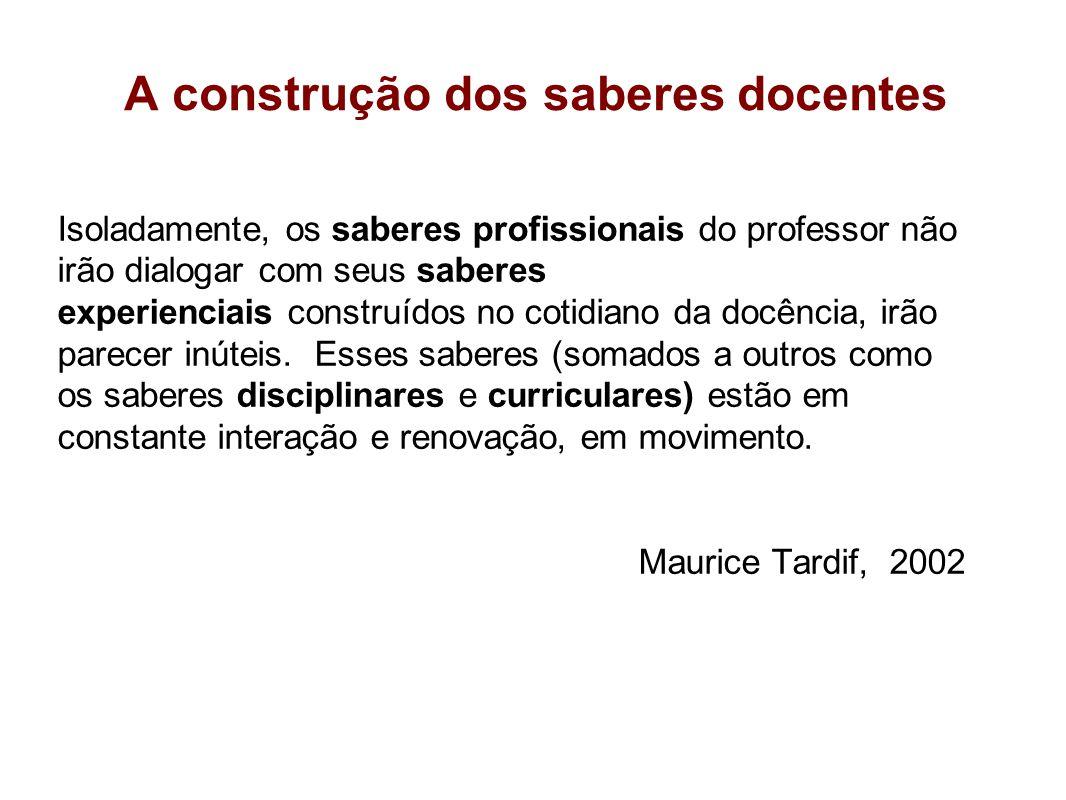 A construção dos saberes docentes