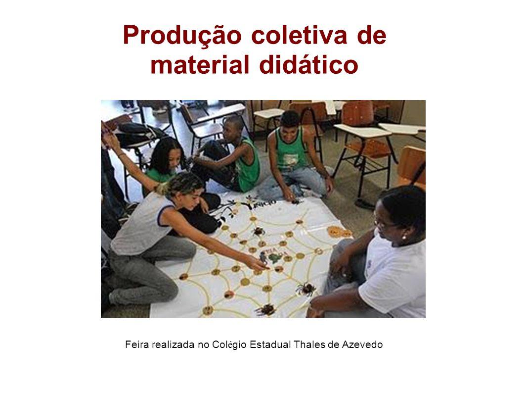 Produção coletiva de material didático