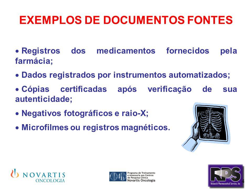 EXEMPLOS DE DOCUMENTOS FONTES