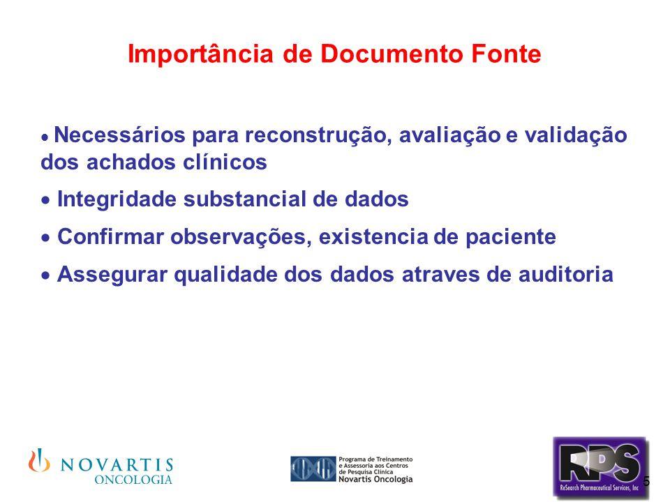 Importância de Documento Fonte