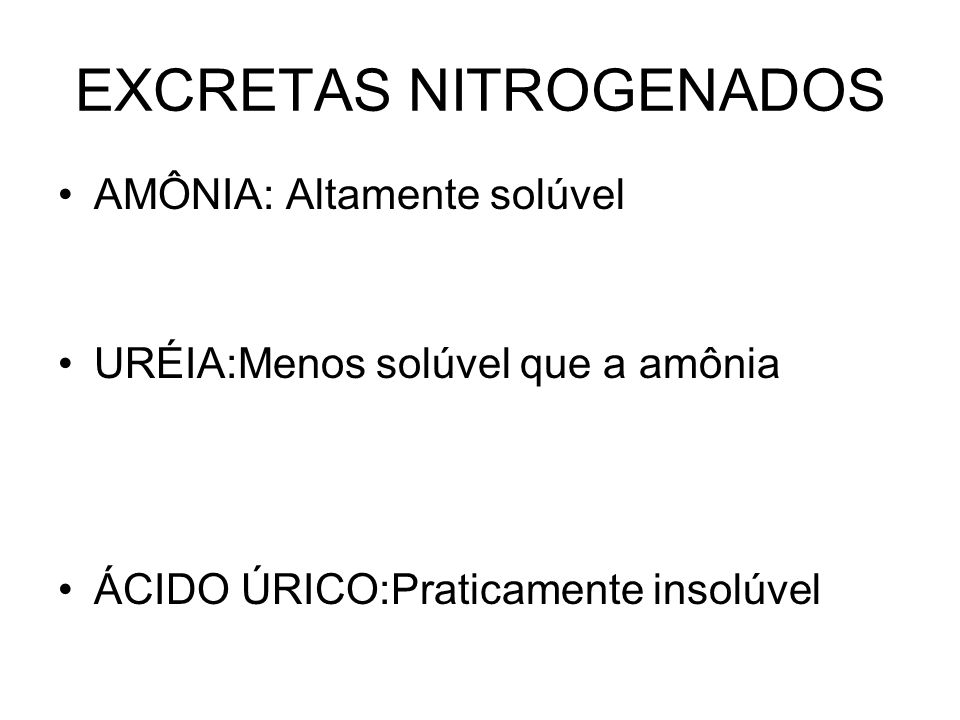 EXCRETAS NITROGENADOS