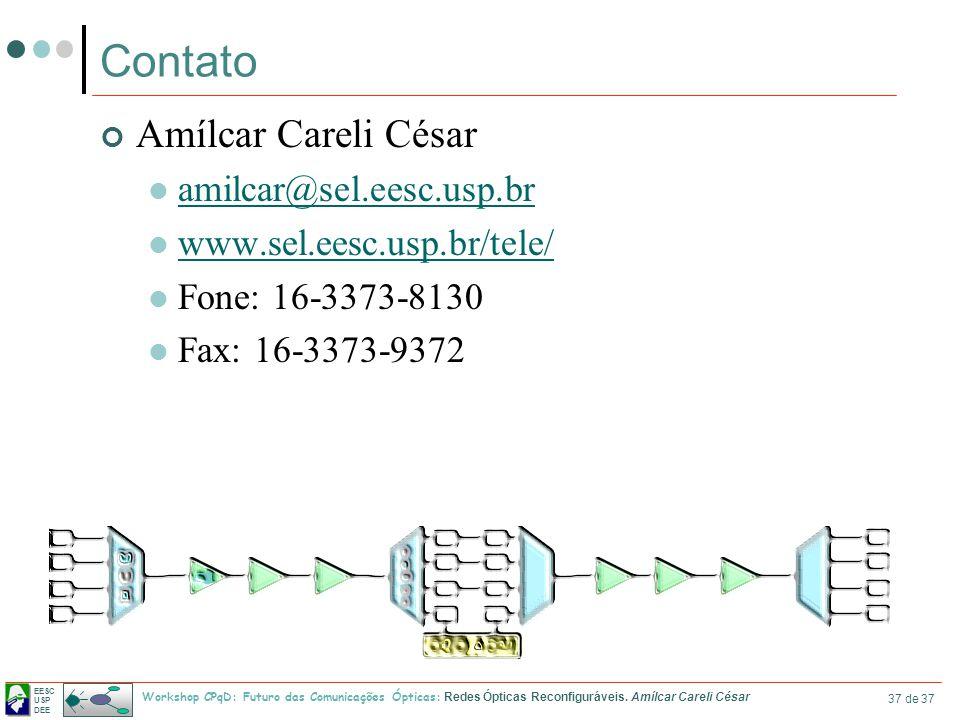 Contato Amílcar Careli César amilcar@sel.eesc.usp.br