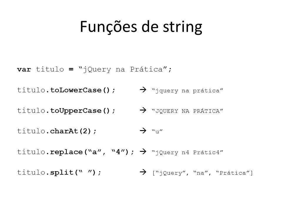 Funções de string