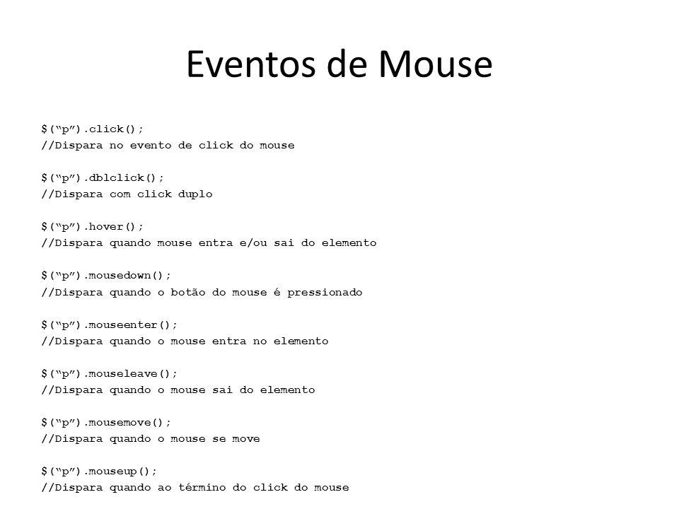 Eventos de Mouse