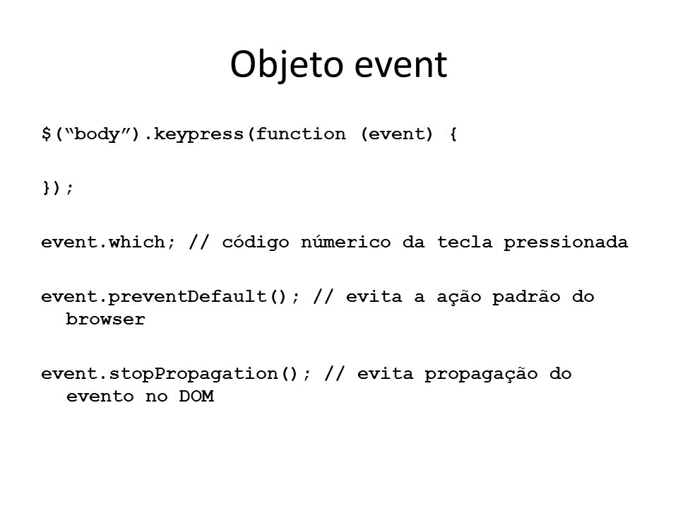 Objeto event