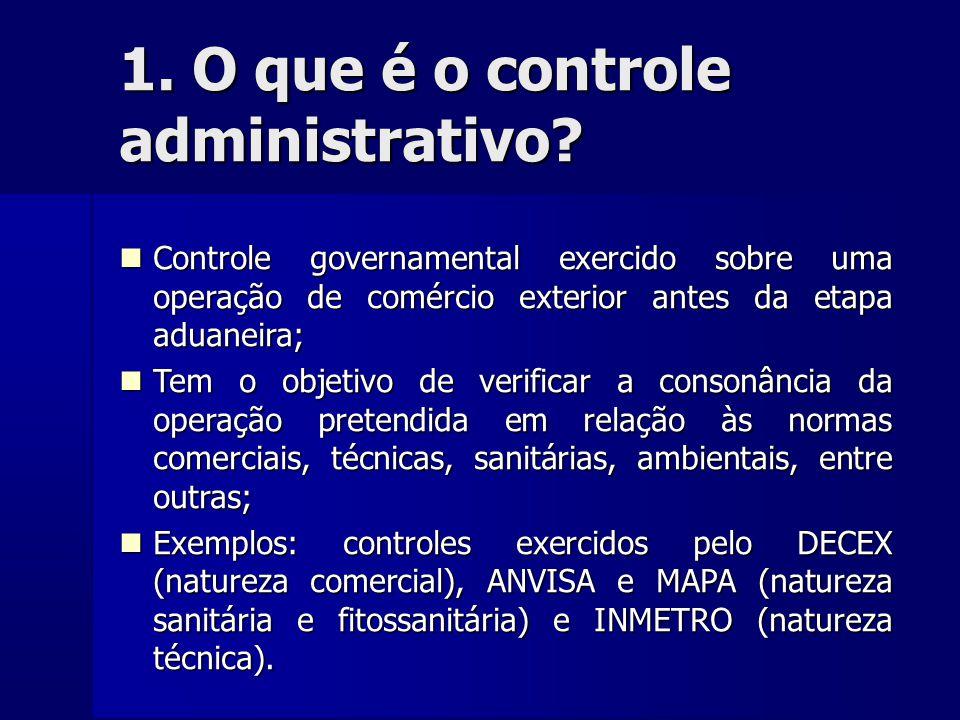 1. O que é o controle administrativo