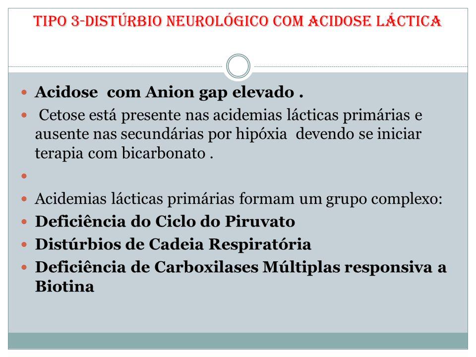 Tipo 3-Distúrbio Neurológico com Acidose Láctica