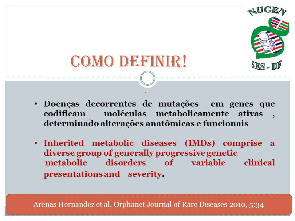 Arenas Hernandez et al. Orphanet Journal of Rare Diseases 2010, 5:34