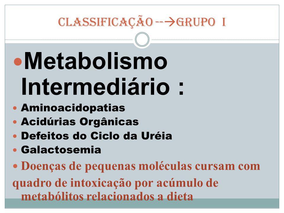 CLASSIFICAÇÃO --GRUPO I