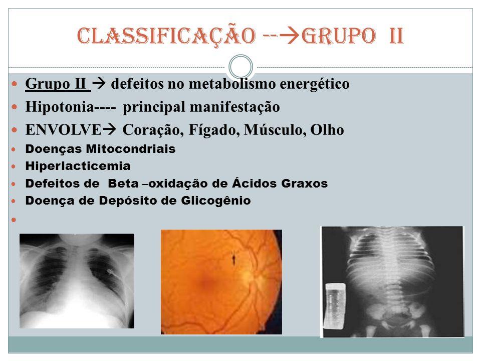 CLASSIFICAÇÃO --GRUPO II