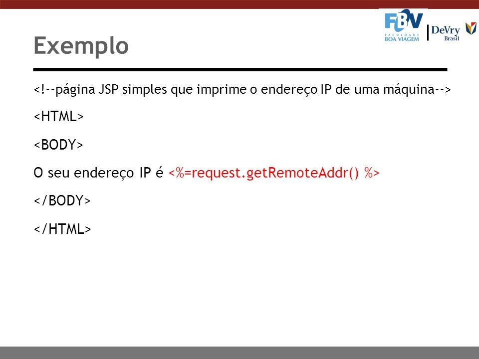 Exemplo <HTML> <BODY>
