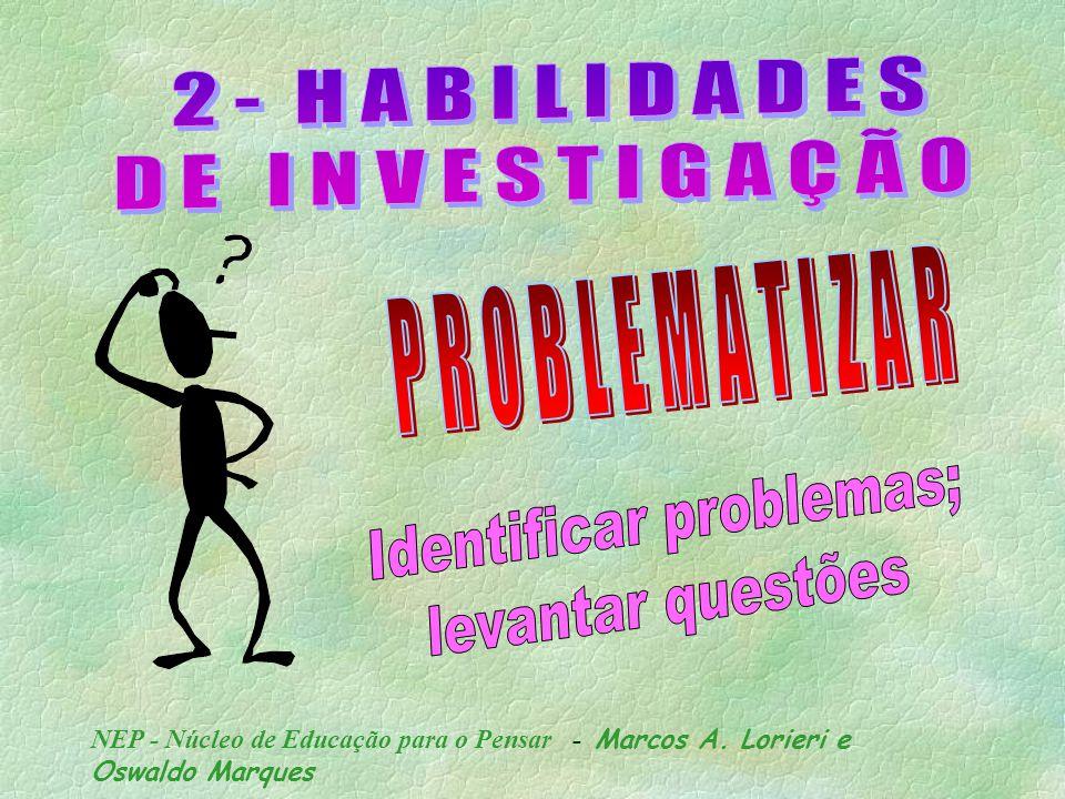 S U P O R HABILIDADE DE PENSAR OU DE CONJECTURAR POSSIBILIDADES;