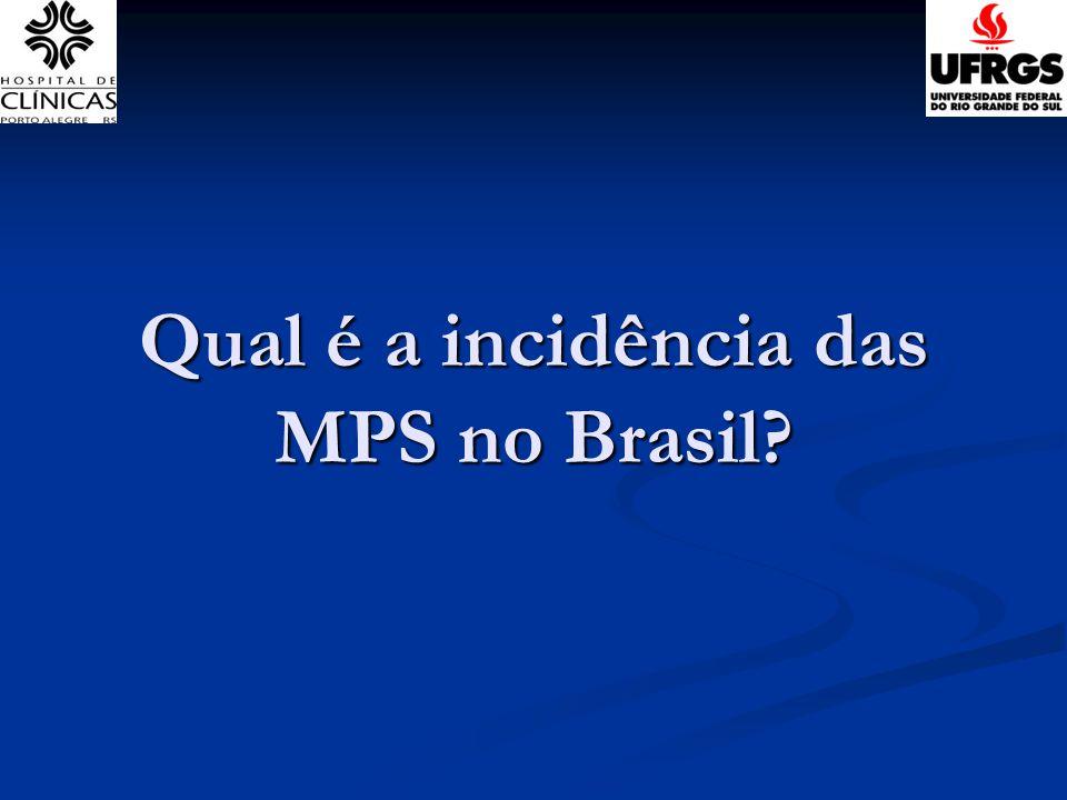 Qual é a incidência das MPS no Brasil