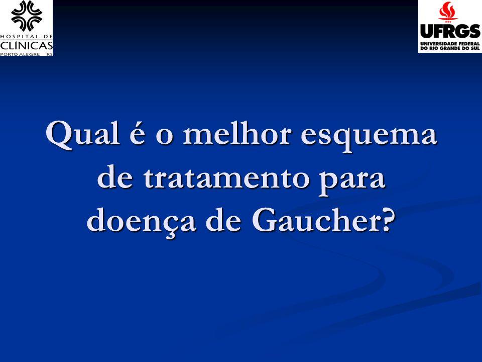 Qual é o melhor esquema de tratamento para doença de Gaucher
