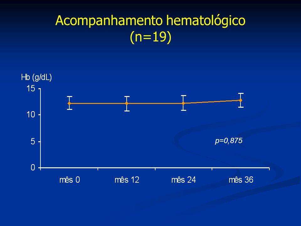 Acompanhamento hematológico (n=19)