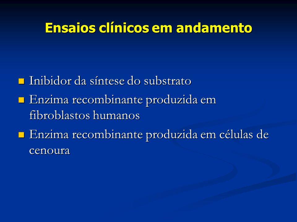Ensaios clínicos em andamento
