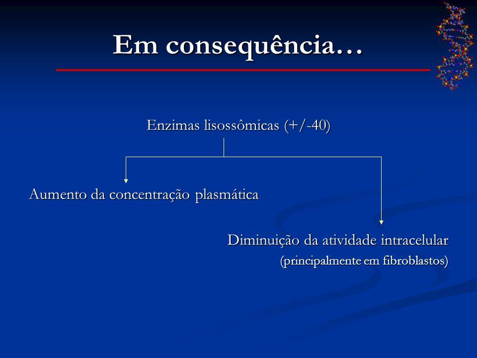 Enzimas lisossômicas (+/-40)