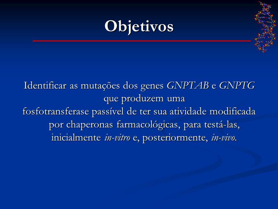 Identificar as mutações dos genes GNPTAB e GNPTG que produzem uma