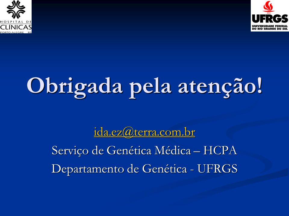 Obrigada pela atenção! ida.ez@terra.com.br