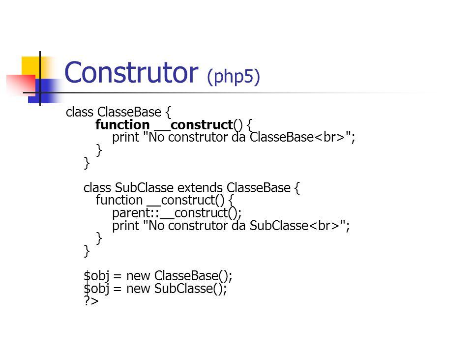 Construtor (php5)