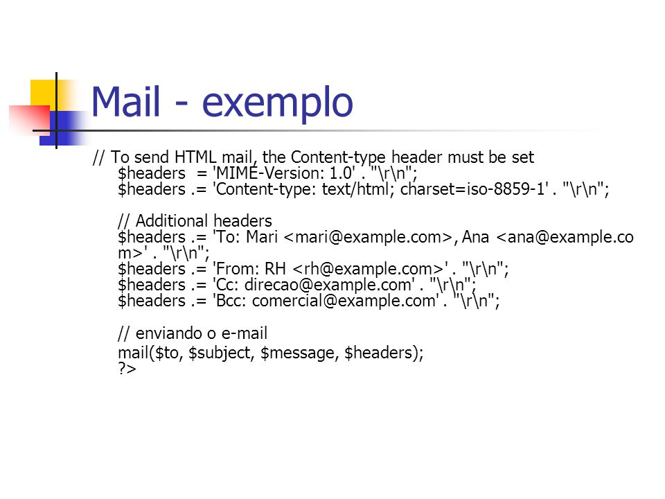 Mail - exemplo