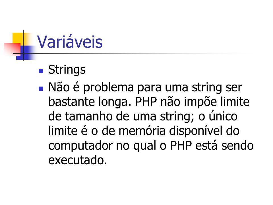 Variáveis Strings.