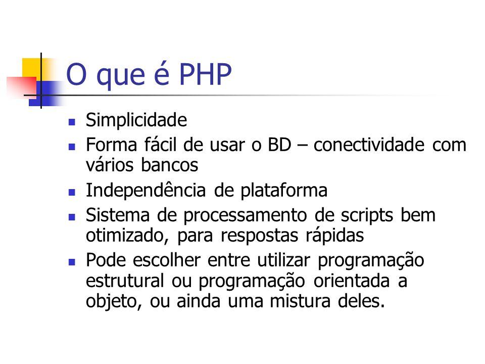 O que é PHP Simplicidade