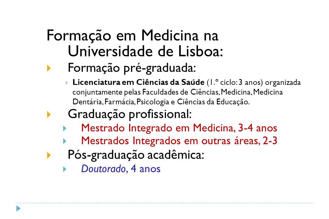 Formação em Medicina na Universidade de Lisboa: