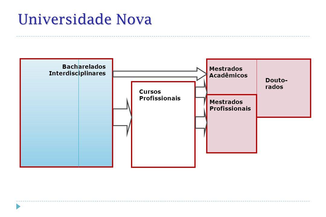 Cursos Profissionais Bacharelados Interdisciplinares.