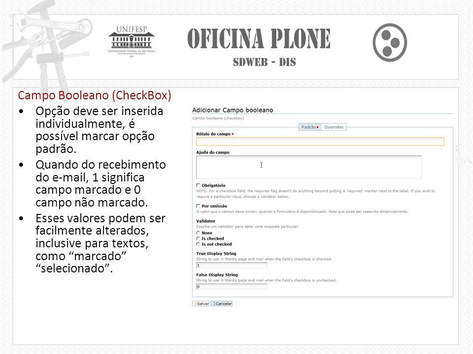 Campo Booleano (CheckBox)