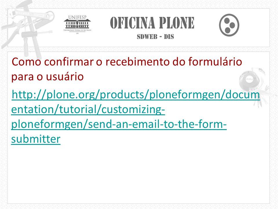 Como confirmar o recebimento do formulário para o usuário