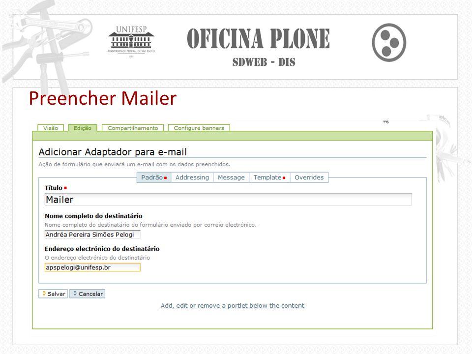 Preencher Mailer