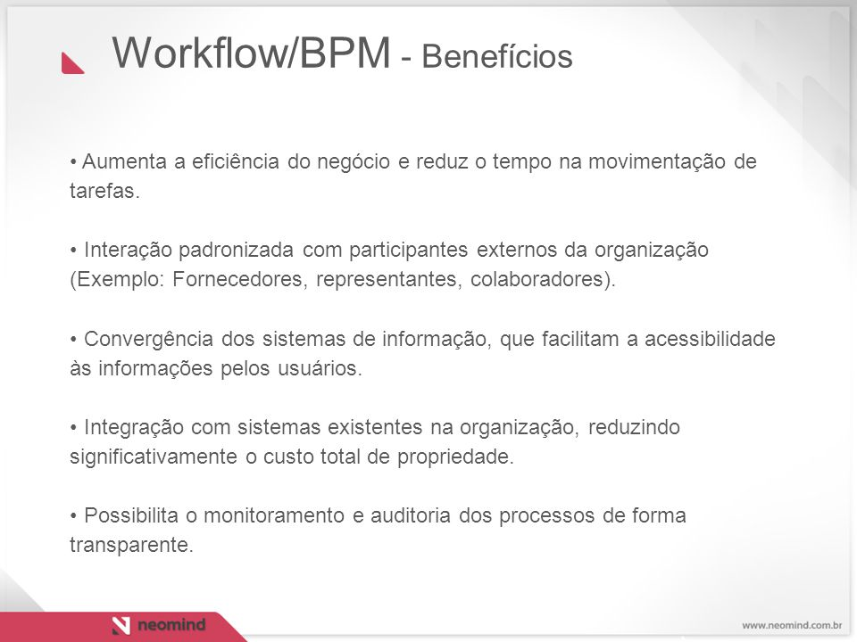 Workflow/BPM - Benefícios