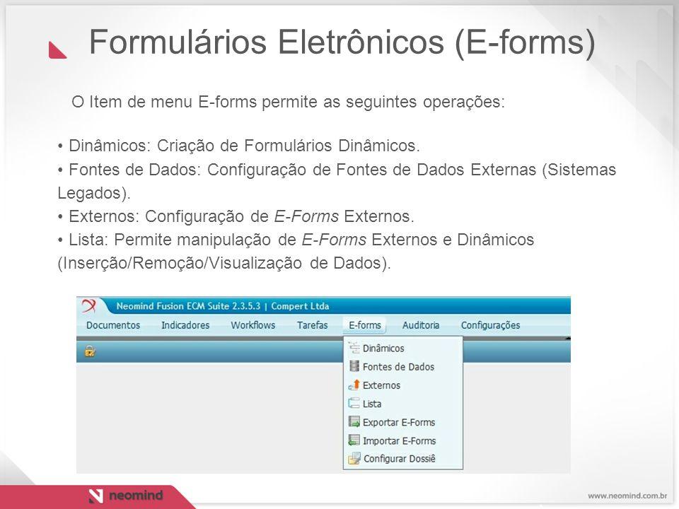 Formulários Eletrônicos (E-forms)