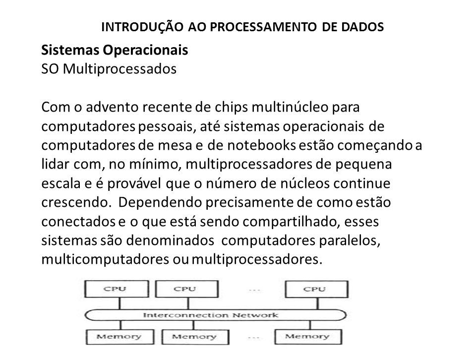 Sistemas Operacionais SO Multiprocessados