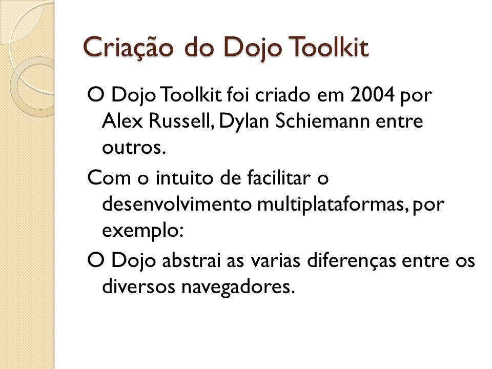 Criação do Dojo Toolkit