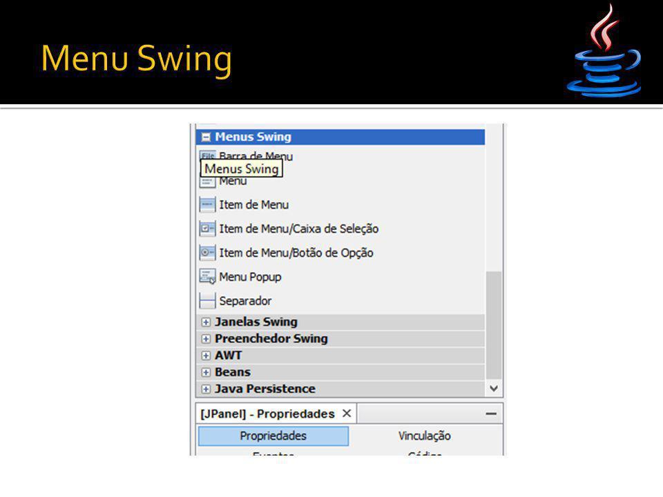 Menu Swing