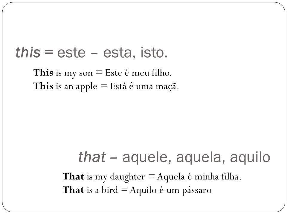 that – aquele, aquela, aquilo