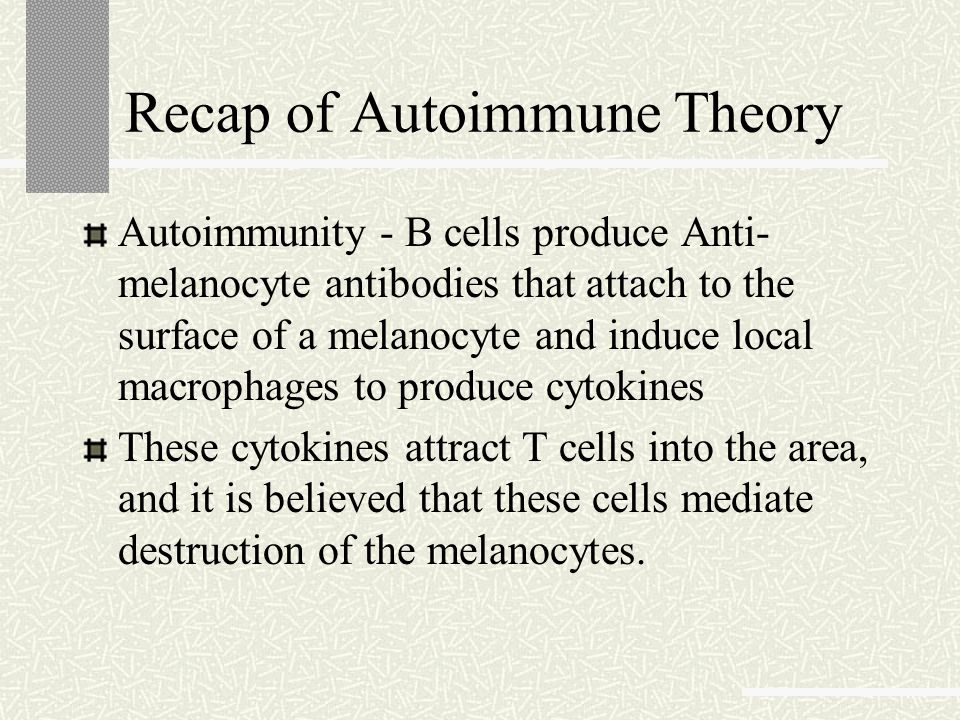 Recap of Autoimmune Theory