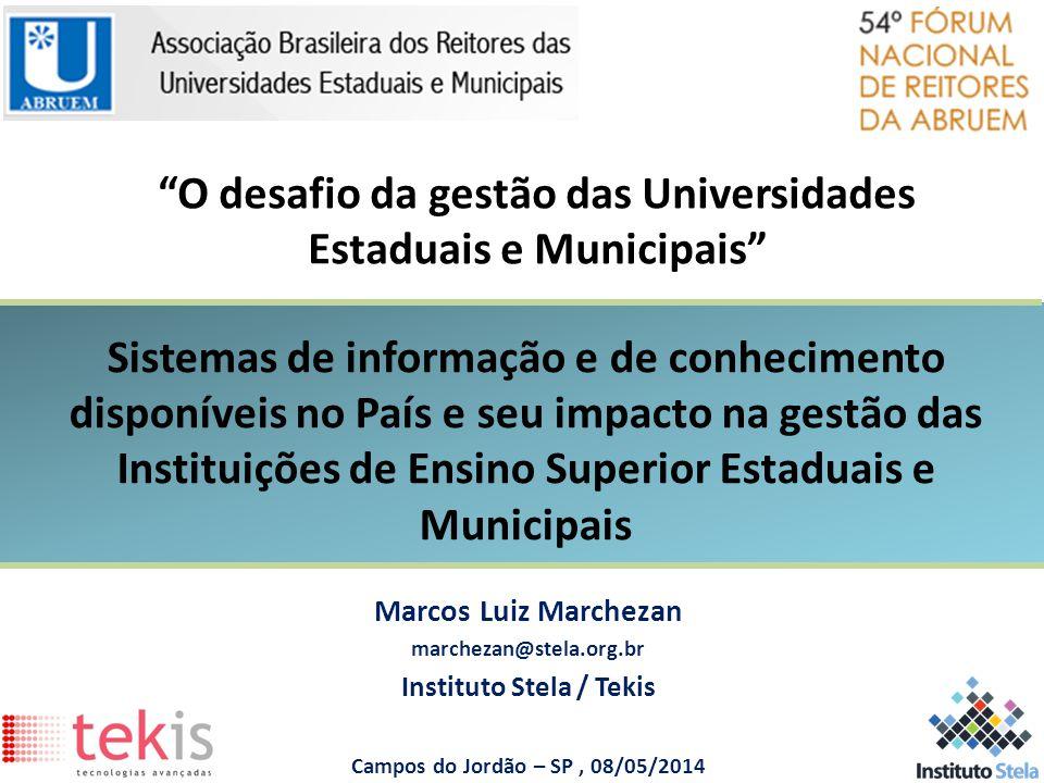 O desafio da gestão das Universidades Estaduais e Municipais