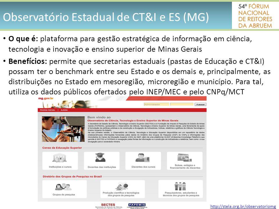Observatório Estadual de CT&I e ES (MG)