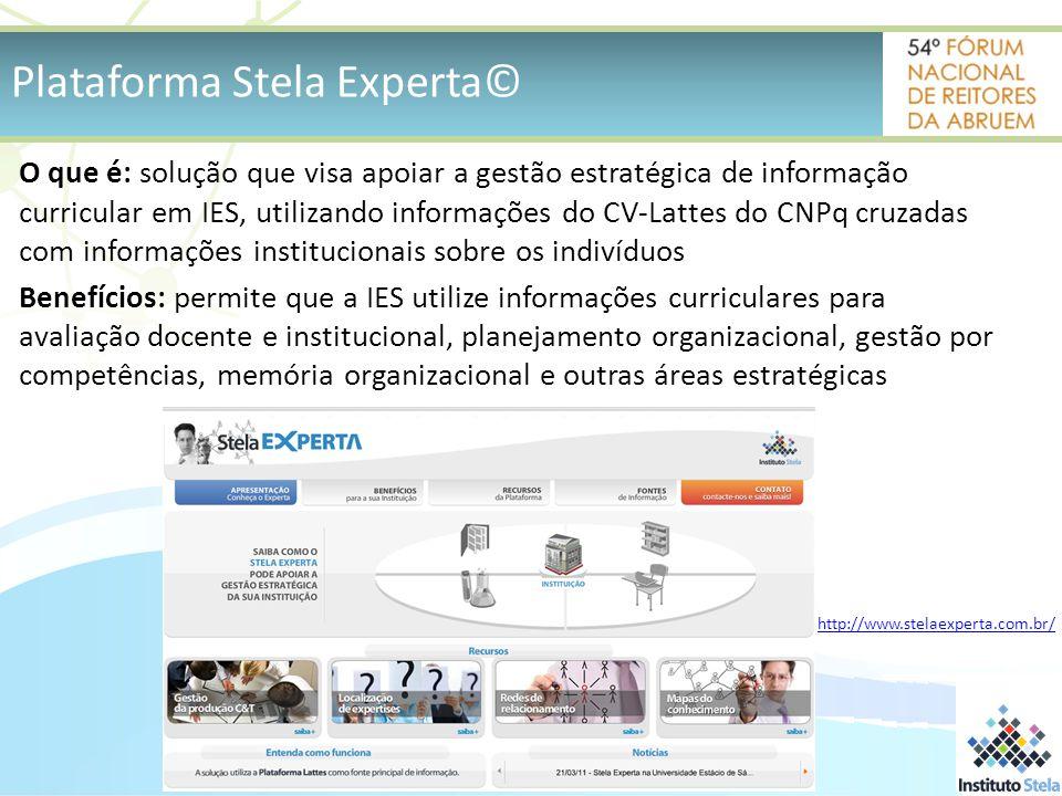 Plataforma Stela Experta©