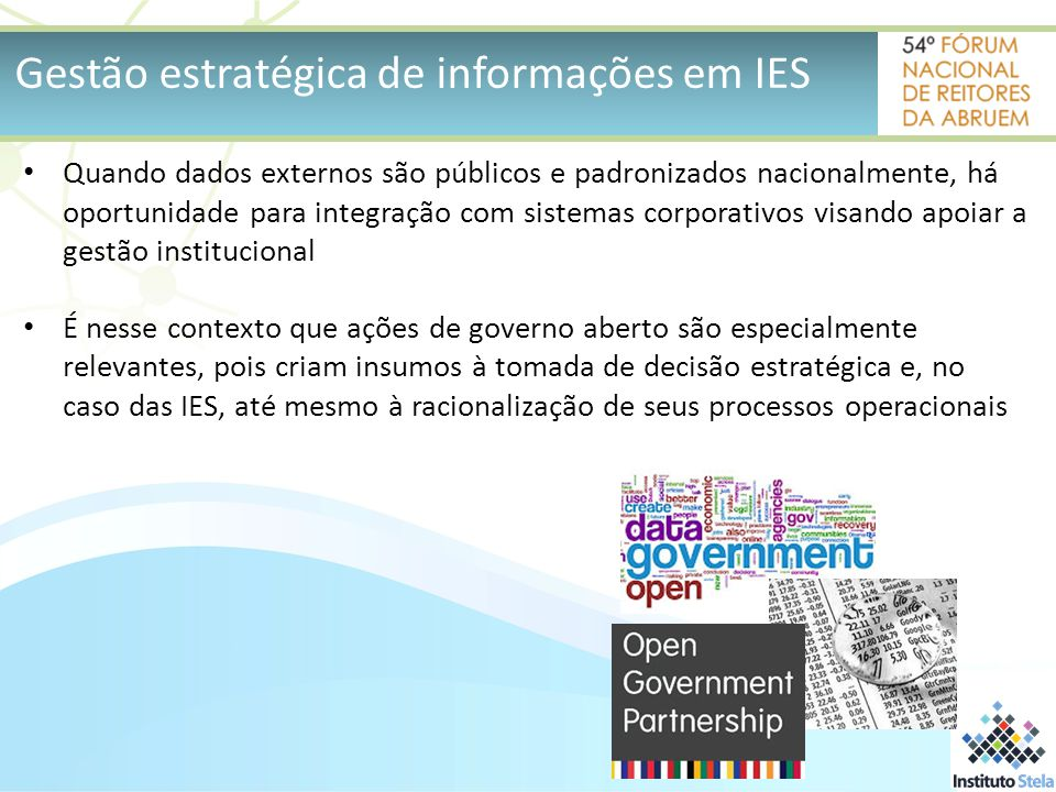 Gestão estratégica de informações em IES