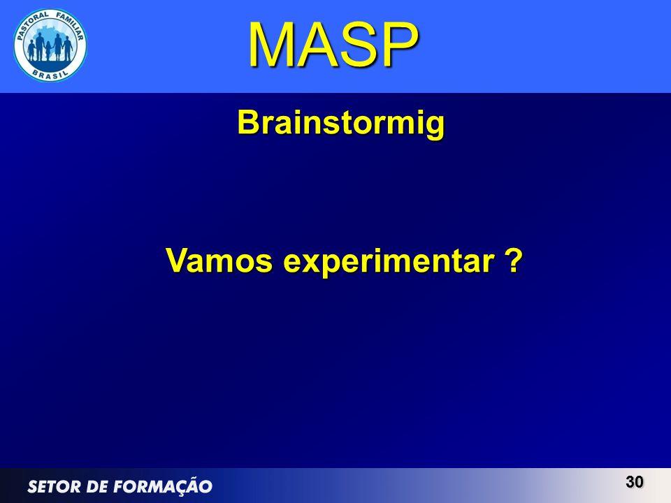 MASP Brainstormig Vamos experimentar 30