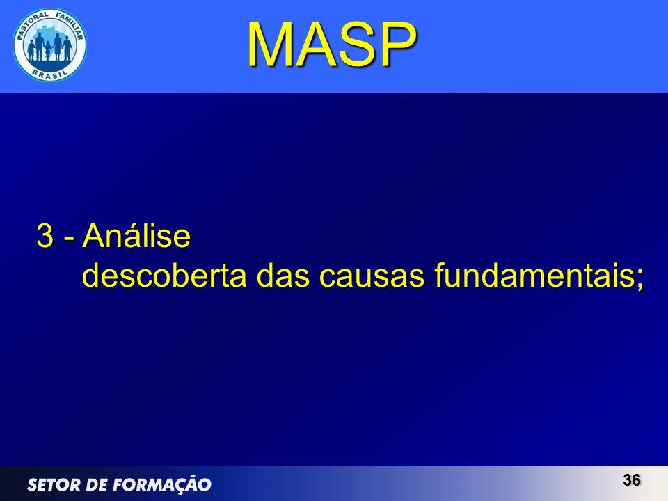 MASP 3 - Análise descoberta das causas fundamentais; 36