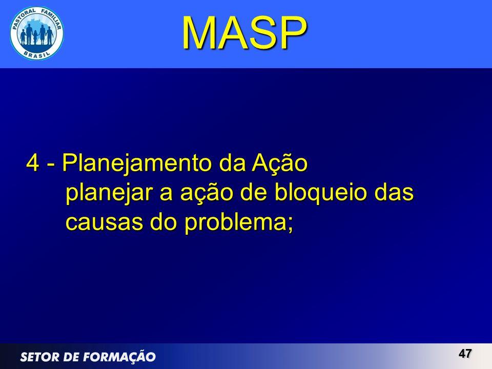 MASP 4 - Planejamento da Ação