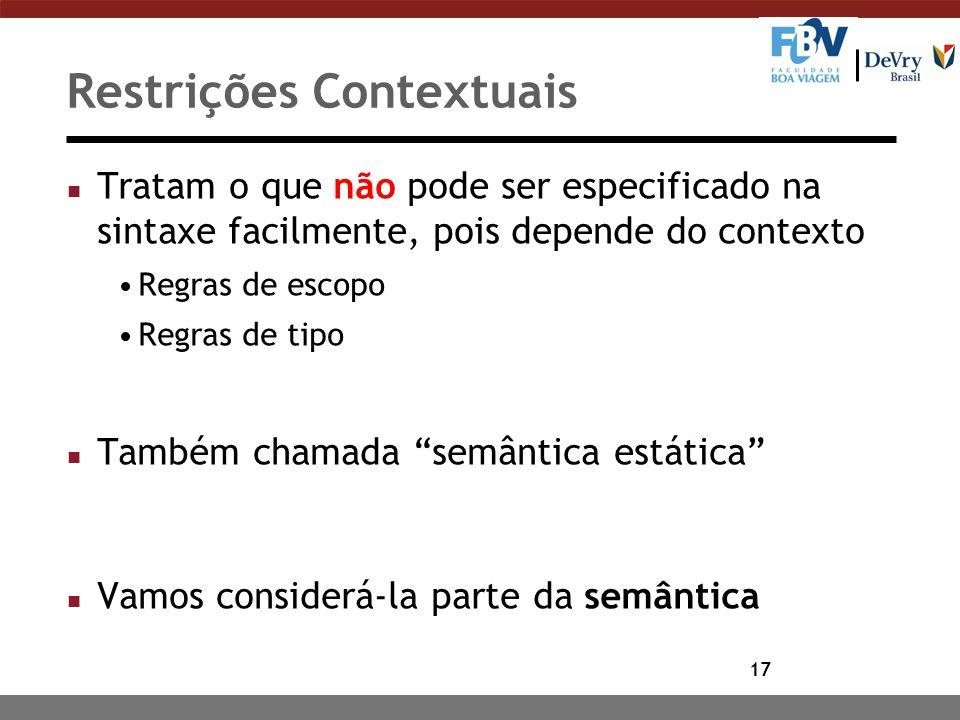 Restrições Contextuais