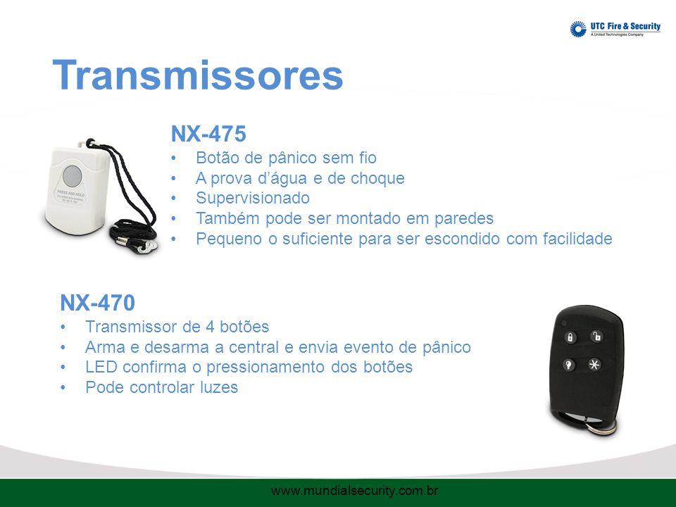Transmissores NX-475 NX-470 Botão de pânico sem fio