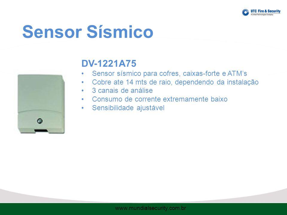 Sensor Sísmico DV-1221A75. Sensor sísmico para cofres, caixas-forte e ATM's. Cobre ate 14 mts de raio, dependendo da instalação.